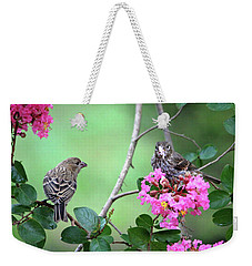 Weekender Tote Bag featuring the photograph Please, May I Have Some? by Trina Ansel