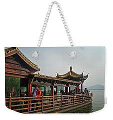 Pleasure Boat On West Lake Weekender Tote Bag