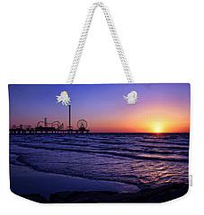 Pleasure Pier Sunrise Weekender Tote Bag