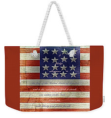 Weekender Tote Bag featuring the photograph Pledge by Judy Hall-Folde