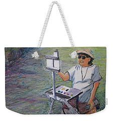 Weekender Tote Bag featuring the painting Plein-air Painter Bj by Gretchen Allen
