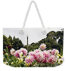 Weekender Tote Bag featuring the photograph Plethora Of Dahlias by Cindy Garber Iverson