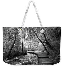 Plitvice In Black And White Weekender Tote Bag