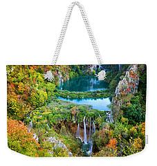 Plitvice Lakes In Croatia Weekender Tote Bag