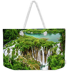 Plitvice Lakes National Park - A Heavenly Crystal Clear Waterfall Vista, Croatia Weekender Tote Bag