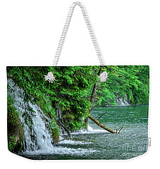 Plitvice Lakes National Park, Croatia - The Intersection Of Upper And Lower Lakes Weekender Tote Bag