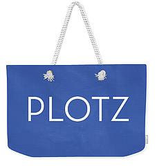 Plotz- Art By Linda Woods Weekender Tote Bag by Linda Woods