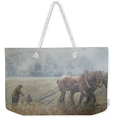 Plowing It The Old Way Weekender Tote Bag