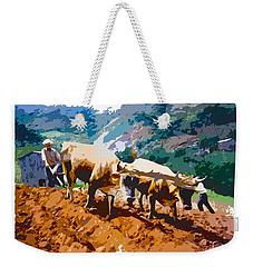 Plowing With Oxen Weekender Tote Bag