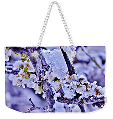Plum Blossoms In Snow Weekender Tote Bag