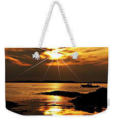 Plum Cove Beach Sunset E Weekender Tote Bag