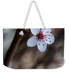Plum Flower Weekender Tote Bag
