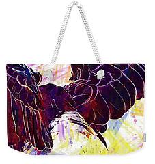 Weekender Tote Bag featuring the digital art Plumage Bald Eagle  by PixBreak Art