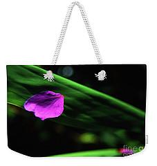 Plumeria Flower Petal On Plumeria Leaf- Kauai- Hawaii Weekender Tote Bag