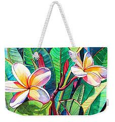 Plumeria Garden Weekender Tote Bag