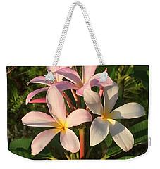 Plumeria Heaven Weekender Tote Bag