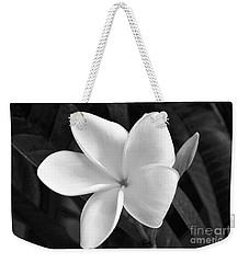 Plumeria In Monochrome Weekender Tote Bag