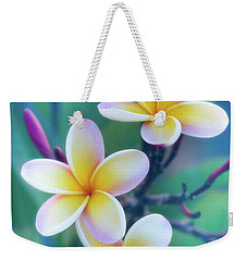 Plumerias In Pastel Weekender Tote Bag