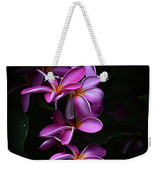 Weekender Tote Bag featuring the photograph Plumeria Light by Kelly Wade