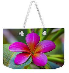 Plumeria On Leaf Weekender Tote Bag