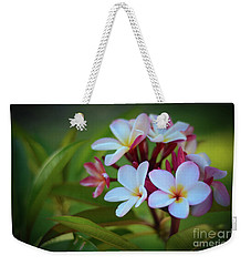 Weekender Tote Bag featuring the photograph Plumeria Sunset by Kelly Wade
