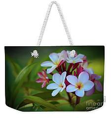Plumeria Sunset Weekender Tote Bag