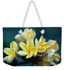 Plumerias Out Of The Blue Weekender Tote Bag