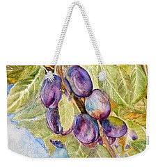 Plums On The Vine Weekender Tote Bag