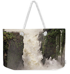 Weekender Tote Bag featuring the photograph Plunge by Alex Lapidus