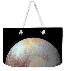 Pluto And Charon Weekender Tote Bag by Nicholas Burningham