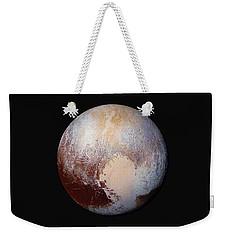 Pluto Dazzles In False Color Weekender Tote Bag by Nasa