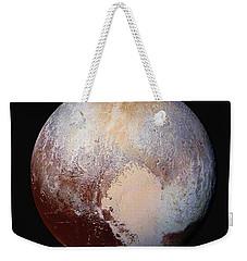 Pluto Dazzles In False Color - Square Crop Weekender Tote Bag by Nasa