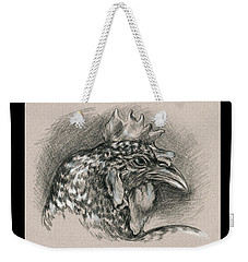 Plymouth Barred Rock Chicken Portrait Weekender Tote Bag
