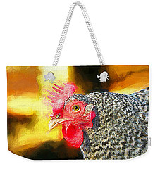 Plymouth Barred Rock Portrait Weekender Tote Bag