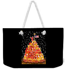 Weekender Tote Bag featuring the painting Plymouth Lobster Trap Tree by Jean Pacheco Ravinski