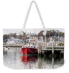 Plymouth Town Harbor  Weekender Tote Bag