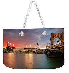 Pnc Park At Sunset Weekender Tote Bag