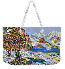 Poet's Lake Weekender Tote Bag