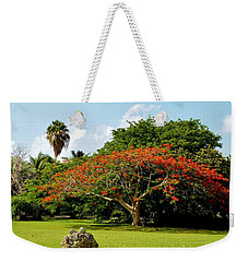Poinciana Weekender Tote Bag by Amar Sheow