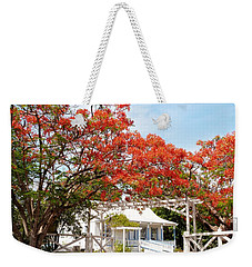 Poinciana Cottage Weekender Tote Bag by Amar Sheow