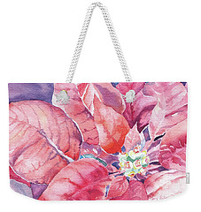 Poinsettia Glory Weekender Tote Bag by Mary Haley-Rocks