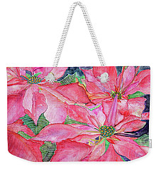 Poinsettia Weekender Tote Bag by Janet Immordino