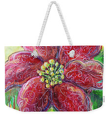 Weekender Tote Bag featuring the painting Poinsettia by TM Gand