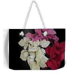 Weekender Tote Bag featuring the jewelry Poinsettia Tricolor Mug  by R  Allen Swezey