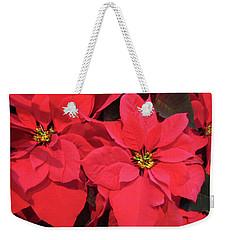 Poinsettias Weekender Tote Bag