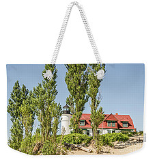 Weekender Tote Bag featuring the photograph Point Betsie Lighthouse by Sue Smith