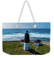 Point Judith Lighthouse Weekender Tote Bag