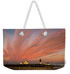 Point Judith Lighthouse Sunset Weekender Tote Bag