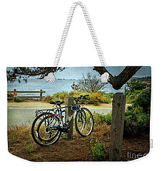 Weekender Tote Bag featuring the photograph Point Lobos Bicycles by Craig J Satterlee