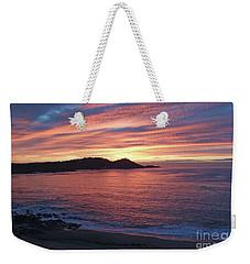 Point Lobos Red Sunset Weekender Tote Bag